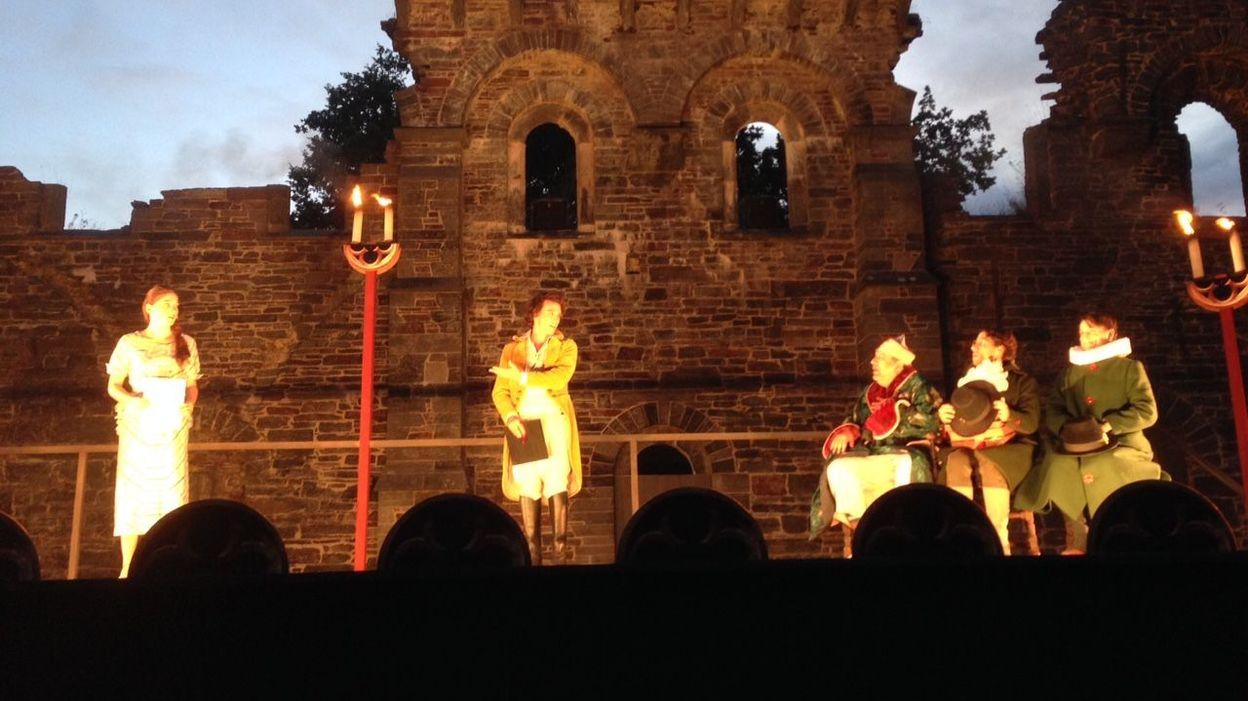 La pièce se jouera jusqu'au 8 août dans les ruines de Villers-la-Ville.