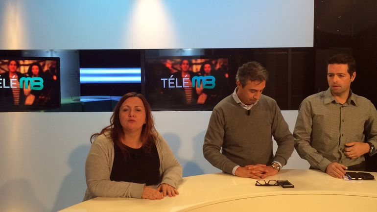COnférence de presse donnée par les travailleurs de télé MB en grève donnée le 9 décembre