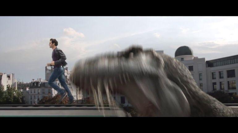 Federer se enfrenta a un dinosaurio