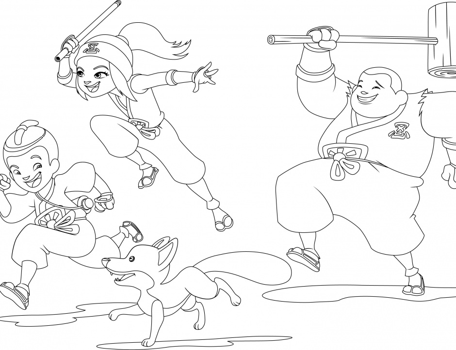 Mini ninjas ouftivi - Mini coloriage ...